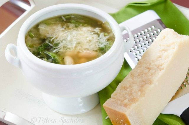 Parmesan White Bean and Escarole Soup