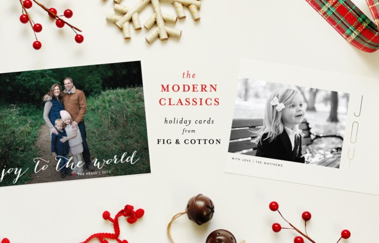 The Modern Classic Holiday Cards
