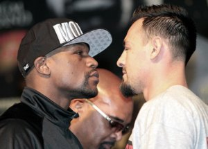 mayweather vs guerrero face off