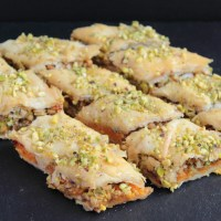 Carrot and pistachio baklava