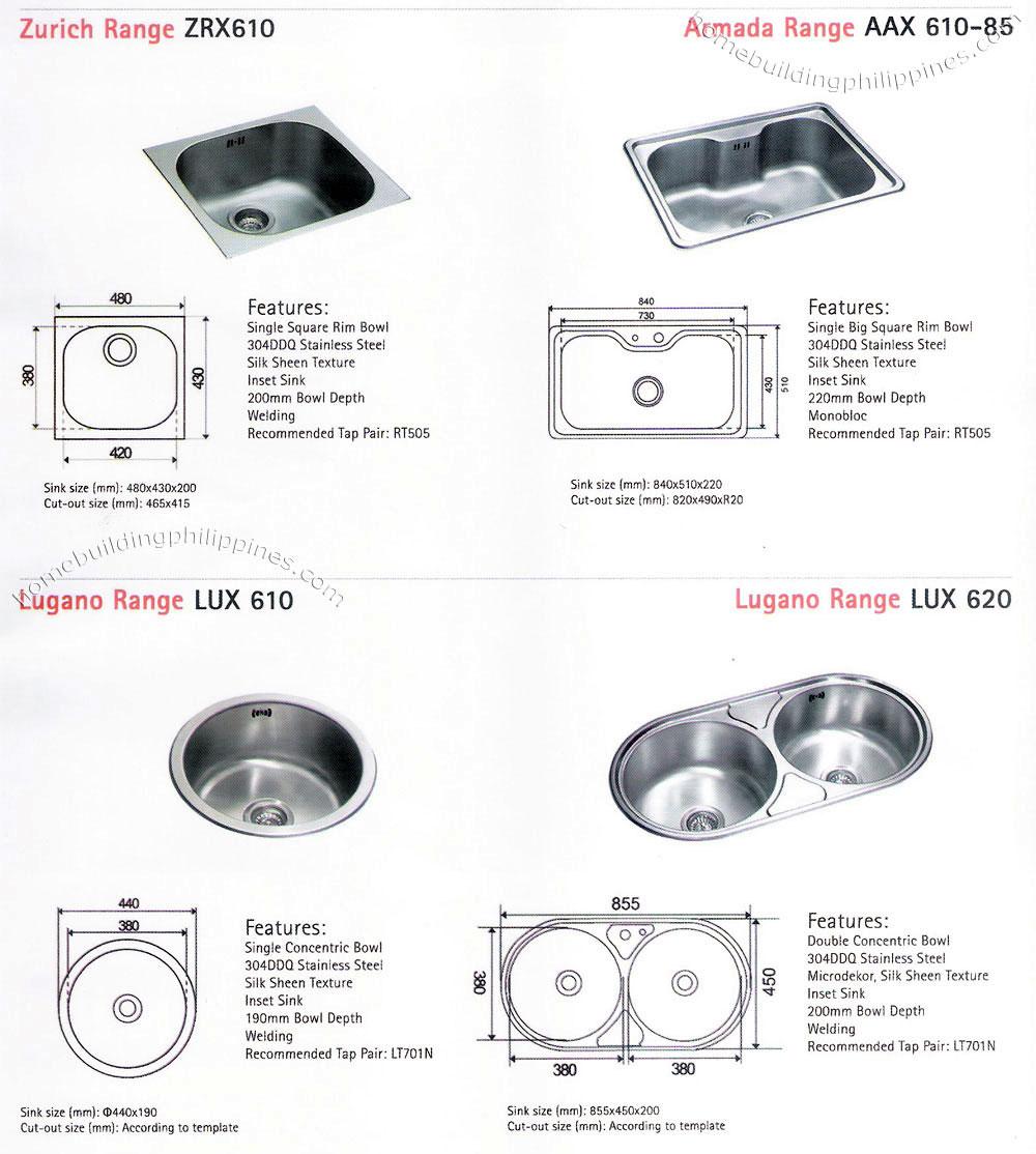 franke kitchen sink sizes Kitchen Sinks