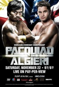 Pacquiao Algieri live fight