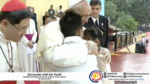 pope francis encounter with the youth philippines