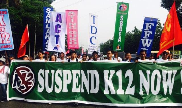 suspend k to 12 coalition