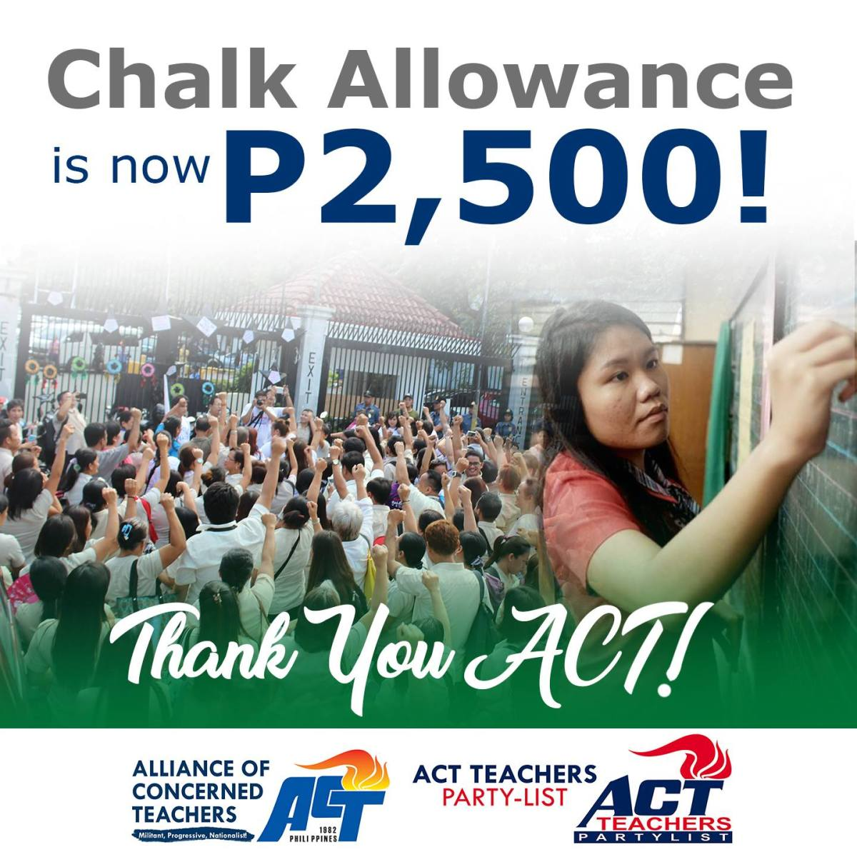 Public school teachers to get P2500 chalk allowance for SY 2017-2018