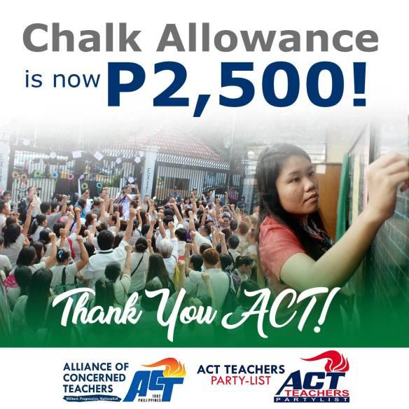 chalk allowance for 2017