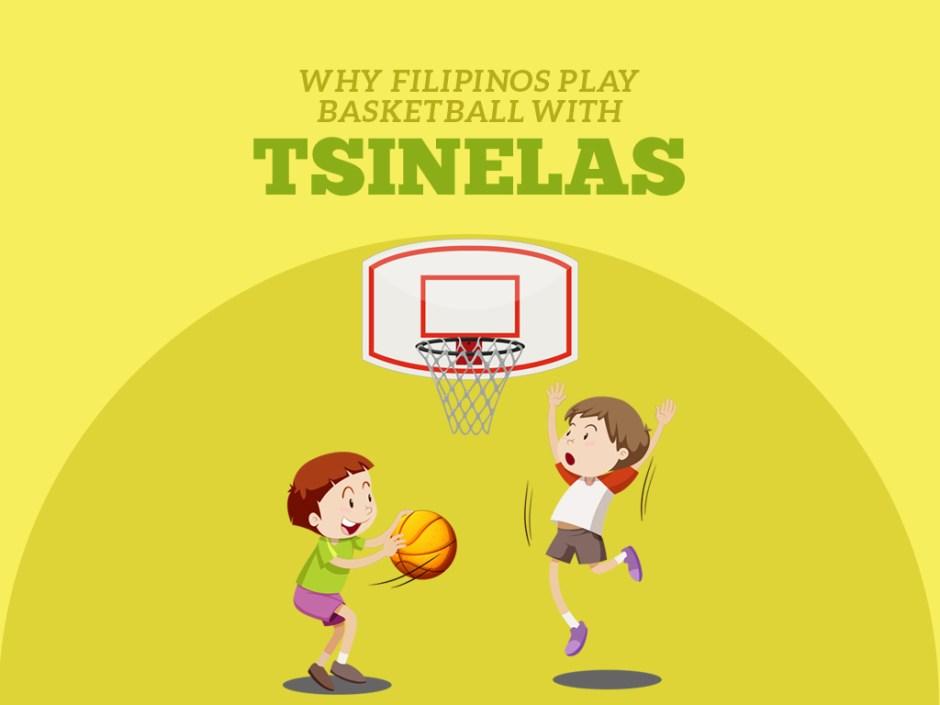 playing basketball with tsinelas