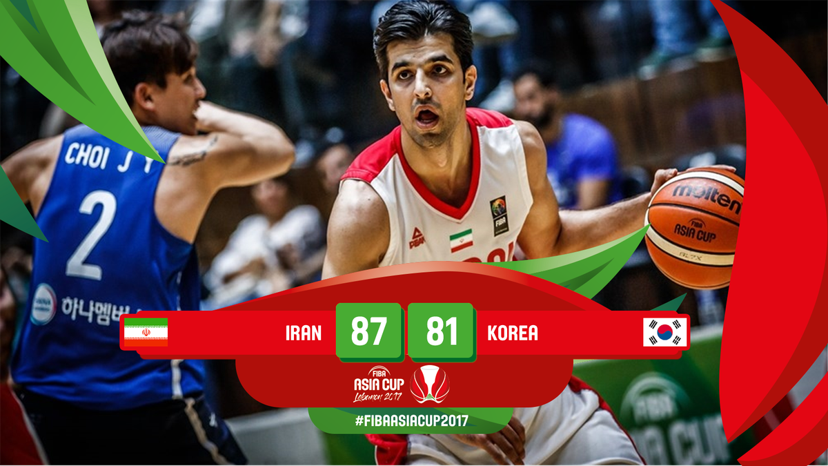 Iran beats South Korea, advances to 2017 FIBA Asia Cup finals vs Australia