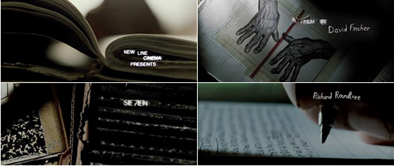 Opening credits of Seven