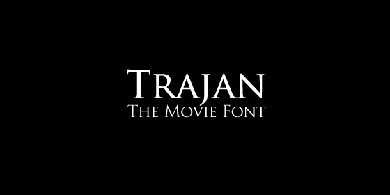 Trajan The Movie Font