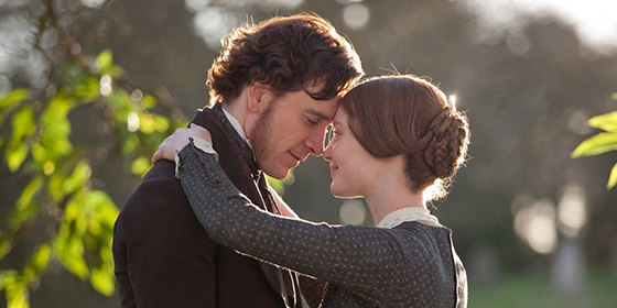 Michael Fassbender as Mr Rochester and Mia Wasikowska as Jane Eyre