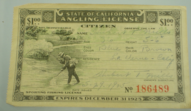 Antique fishing license the paper years antique lure for Fishing license tn