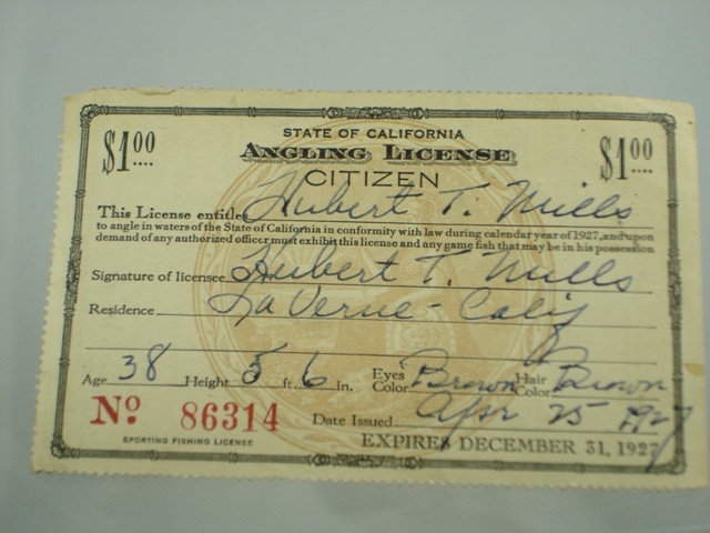 Antique fishing license the paper years antique lure for How much is a fishing license in california