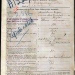 Edward's enlistment papers