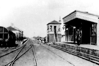The railway at Marden in 1890, a few years after William's accident