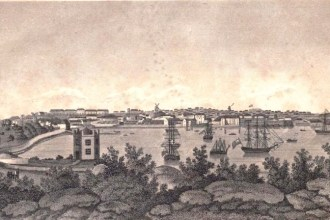View of Sydney in 1820, said to be the work of artist John William Lewin