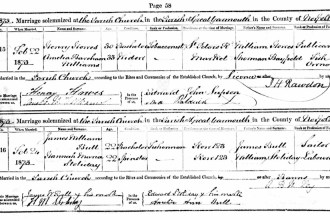 Hannah's marriage to James Bull