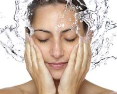 skin care with water