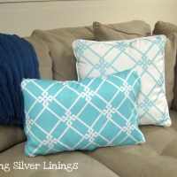 How To Make No Sew Removable Pillow Covers