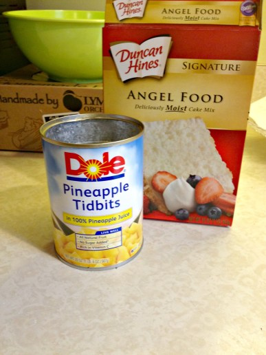 2 ingredient pineapple angel food cake
