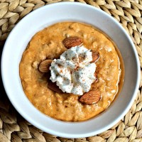 Whipped Pumpkin Pie Oatmeal