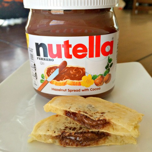 Nutella stuffed pancake recipe OMG
