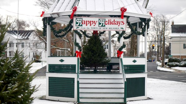 Gazebo on Town Green in New Milford, CT