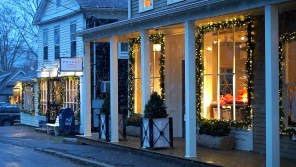 Cute lit shops on the drive to Kent, CT.