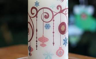 Holiday Candle with Tattoo Paper
