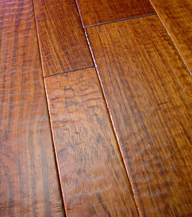 Handscraped Hardwood Flooring Kitchen