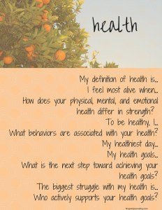 health journaling prompts
