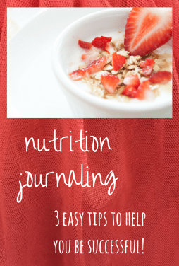 fine print journaling: nutrition journaling