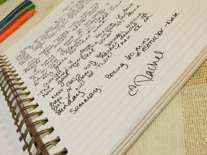 fine print journaling: exercise journal