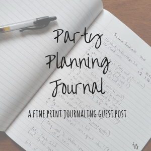 Party Planning Journal