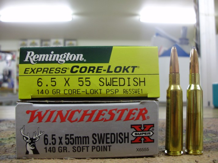 A selection of factory 6.5x55mm ammunition, from both Winchester and Remington. Both have a solid reputation for rifles AND ammunition