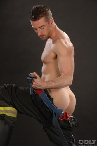 Scott-Hunter-Uniform-Men-firefighter-jockstrap-gay-porn-star-COLT-studio-group-with-Bob-Hager-hairy-masculine-hot-passionate-sex-3
