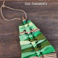 Scrap Ribbon Tree Ornaments