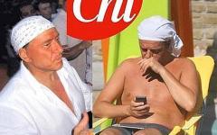 Renzi pizzicato con la bandana come Berlusconi