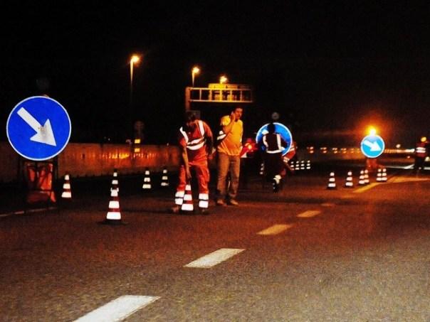 Autostrada chiusa per lavori