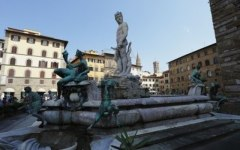 La fontana del Nettuno in piazza della Signoria