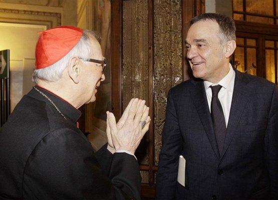 Il cardinale Silvano Piovanelli insieme al presidente della Regione Toscana, Enrico Rossi