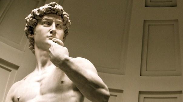 Il David di Michelangelo spolverato, alla Galleria dell'Accademia