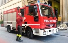 I vigili del fuoco, intervenuti sul posto