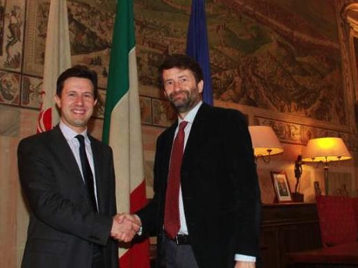 Il sindaco Dario Nardella con il ministro Dario Franceschini