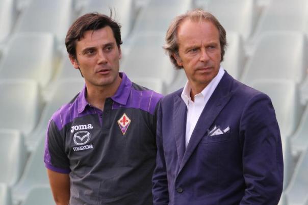Vincenzo Montella e Andrea Della Valle: dopo l'incontro hanno deciso di rinviare ogni decisione sul futuro