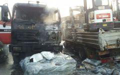 Firenze: incendio all'alba in una ditta edile. Bruciano 4 automezzi e 3 escavatori