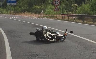 La moto dopo il tragico incidente