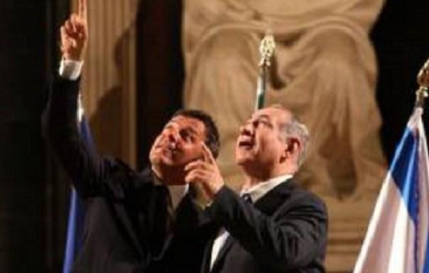 Renzi e Netanyahu a Palazzo vecchio