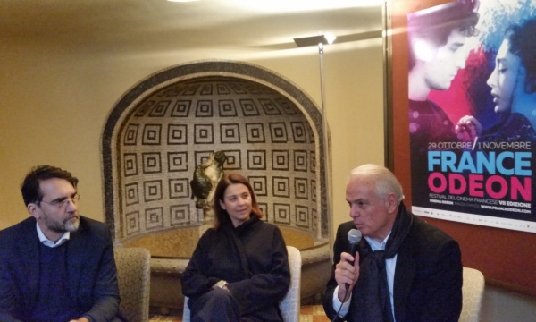 All presentazione di France Odeon 2015, da sinistra F.R. Martinotti, S.Ippoliti e R.Zucconi