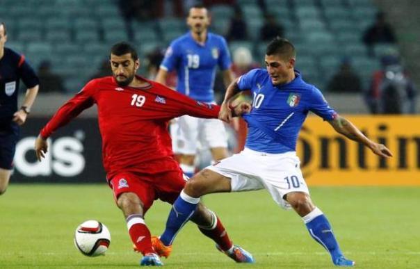 Azerbaijan-Italia, Marco Verratti in azione